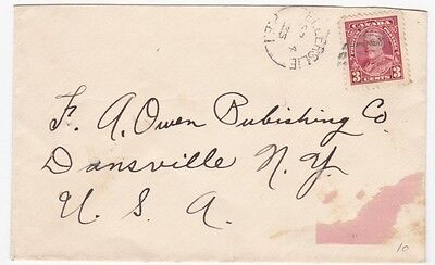 Canada Ellerslie PEI to Us 1935 Single Franked Cover