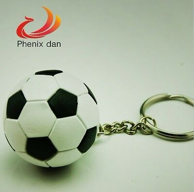New 1pcs Lovely Classic Soccer Key Chain Metal Key Ring For Football Fans 1.5""