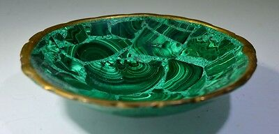AMAZING MALACHITE HAND MADE 75 MM GEM STONE BOWL