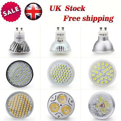 10 / 20X GU10 4/6/8W LED Bulbs SMD Lamps High Power Spot Light Day Warm White UK