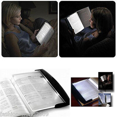 Slim Night Vision Reading Panel Page LED Light Wedge Book Travel Reading Lamps