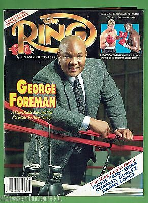 #ee.  The Ring Boxing Magazine, September  1991
