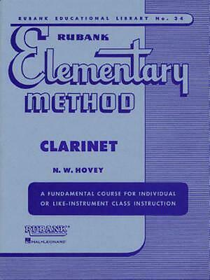 Rubank Elementary Method Clarinet (English) Paperback Book Free Shipping!
