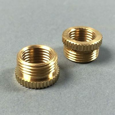"Lamp Holder Reducer Brass 1/2"" Male to 3/8"" Female Thread (Pack of 2)"