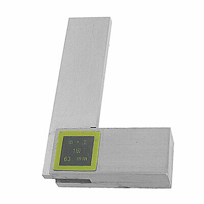 Metal 63 x 40mm Metric Scale Right Angle L Square Ruler