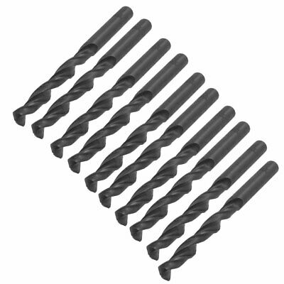 10 Pcs Straight Shank 6mm Dia Drilling Hole HSS Twist Drill Bit