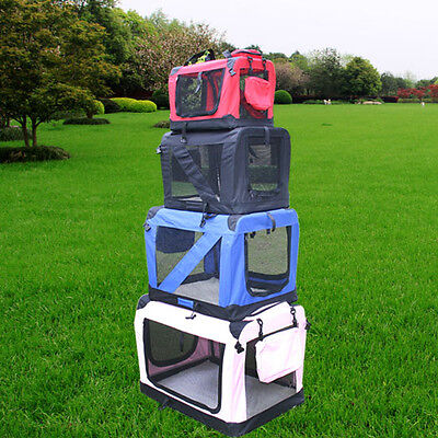Pet Dog Travel Carrier Cat Puppy Fabric Crate Kennel Bag Cage Folding Greenbay
