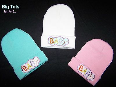 "Adult Baby  Knitted ""Baby"" Cap *Big Tots by MsL*"