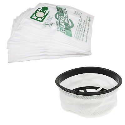 10 Microfibre Dust Bags & Cloth Filter For Numatic Henry Hetty Vacuum Cleaners
