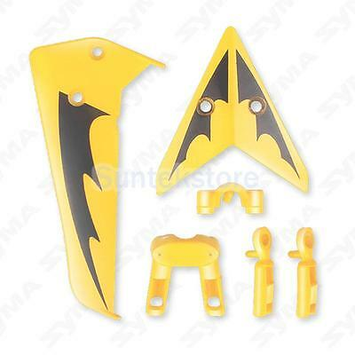 Genuine Syma RC Helicopter S107G Yellow Fin Tail Decoration Set 6PCs Replacement