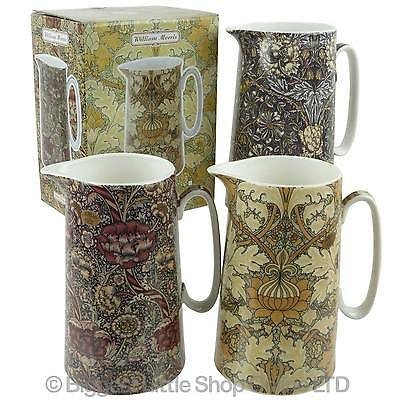 NEW Fine China WILLIAM MORRIS FLORAL Design JUGS by Leonardo GIFT BOX Vintage