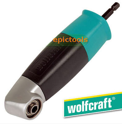 """WOLFCRAFT 1/4"""" Hex Right Angle Drill Bit/Screwdriver Attachment Holder, 4688"""
