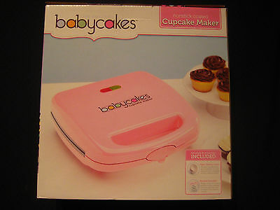 BabyCakes Nonstick Coated Cupcake Maker with Baking Liners & Recipes - Makes 6