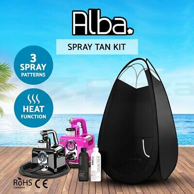 Spray Tan Machine + Black Tent + Tanning Solution Professional Sunless HVLP 700W