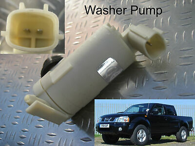 Front Windscreen Washer Pump Nissan Navara Pick up D22 2001 through to 2005