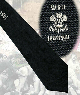 Welsh Rugby Union Centenary 1981, navy - 10 cm - RUGBY TIE