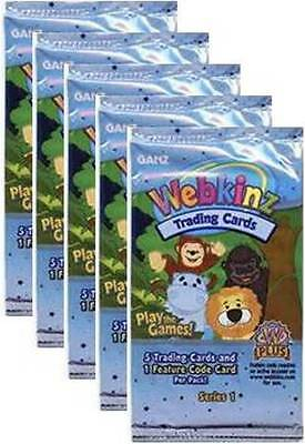 Webkinz LOT OF 5 Packs of New Trading Cards Series 1 Unopened Five with Codes