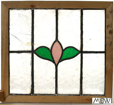 Antique English Lead Glazed Stained Glass Window - 14