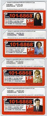 NYC METROCARDS  SET OF FOUR DIAL 101-6868  NICE