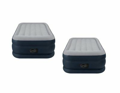 2-Pack Intex Deluxe Twin Pillow Rest Raised Air Mattresses + Pumps | 2 x 67731E