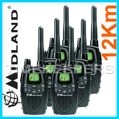 talkie walkies 56km midland gxt1050 5w chargeur transformateur 220v micro casque. Black Bedroom Furniture Sets. Home Design Ideas