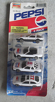 Ja-Ru Set of 4 Pepsi Diecast Plastic Cars  NIP