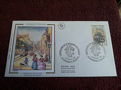 Enveloppe Premier Jour Soie 1989 Clermont Ferrand First Day Cover