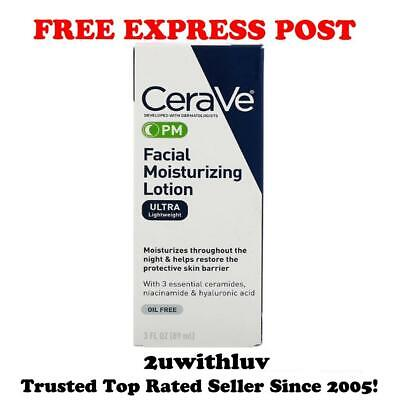 Cerave Facial Moisturizing Lotion Pm Ultra Lightweight 89Ml Free Express Post!