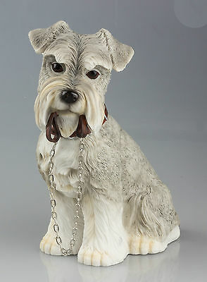Schnauzer Dog Ornament With Lead in Mouth - Walkies by Leonardo Collection NEW