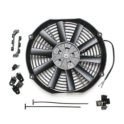"""ACP 12/"""" Universal Pull Radiator Cooling Fan Curved Blades Replacement Unit"""