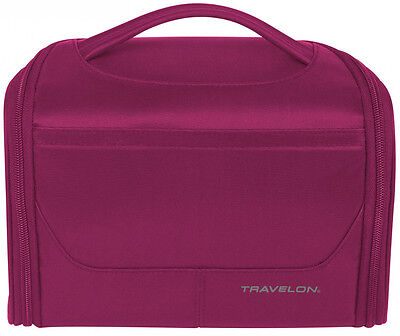 Travelon Weekend Edition Independence Bag Toiletry / Make Up Case - Berry