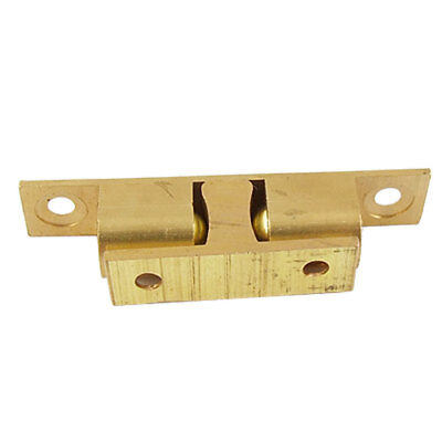 Solid Brass Double Ball Door Latch Catch 67mm Gold Tone