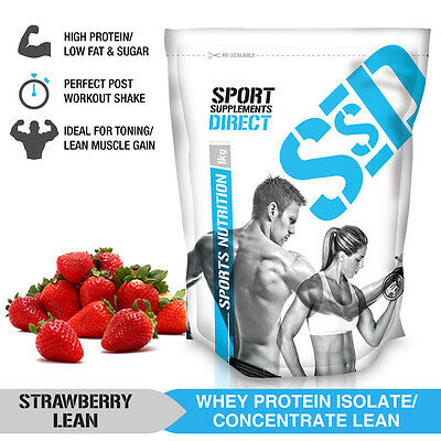 1Kg Strawberry Lean Whey Protein Isolate / Concentrate - Lean Wpi / Wpc 1Kg