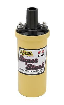 Accel Ignition Coil SuperStock Canister Round Oil-Filled Yellow 42000 V Each