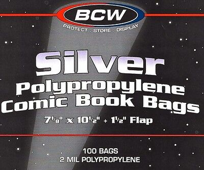 200 Silver Comic Bags and Boards  New BCW Archival Book Storage Supplies
