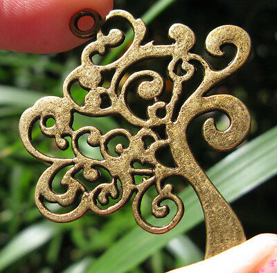 Bronze TREE OF LIFE Gold Pendant GODDESS Wicca Pagan Supplies Jewelry  vintage