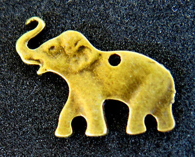Vintage Bronze Elephant Pendant Safari Antique Gold Alabama ROLL TIDE Africa NR