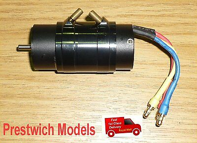BRUSHLESS WATERCOOLED MOTOR 2858 4 pole 2730kv. marine rc model boat