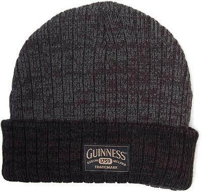 Guinness - Logo Patch Cuffed Acrylic Beanie Hat - New & Official With Tag