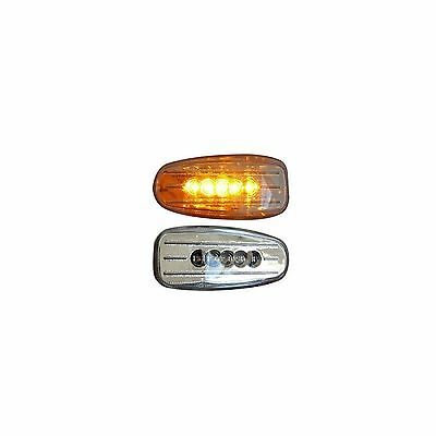 2x Clear LED Side Repeater Indicators Marker Light Replacement 12v