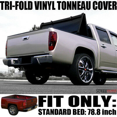 Tri-Fold Soft Vinyl Tonneau Cover 99-07 GMC Sierra Truck Fleetside 6.5 Short Bed