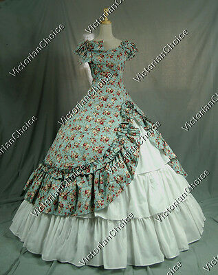 Southern Belle Civil War Ball Gown Period Dress Reenactment Theatre Clothing 208