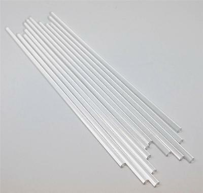 "12 Pieces 1/4"" x 12"" Clear Acrylic Plexiglass Extruded Rod  FREE SHIPPING"