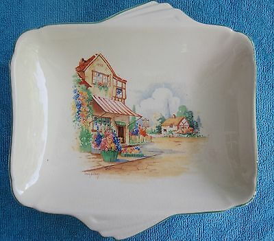 vintage EMPIRE WARE Olde Flower Shoppe SERVING PLATE - art deco style