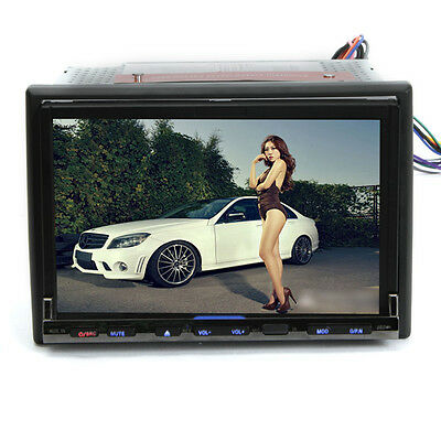 """LCD 7""""TFT HD Touch Screen Bluetooth Car DVD iPod RDS Player Double 2Din G-827D"""