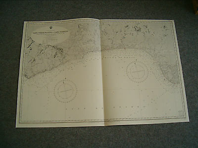 Vintage Admiralty Chart 595 WEST AFRICA - GHANA to NIGERIA 1928 edition