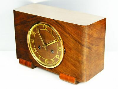 Beautiful Pure  Art Deco  Hermle   Chiming Mantel Clock