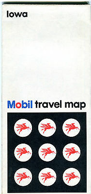 1972 Mobil IOWA Vintage Road Map