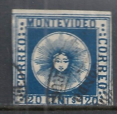 Uruguay stamps 1858 YV 4  CANC  F  High Value!