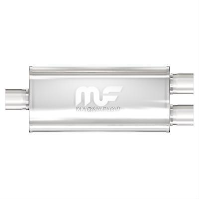 """MagnaFlow 12198 Muffler 3"""" Inlet/Dual 2.50"""" Outlet Stainless Steel Natural Ea"""